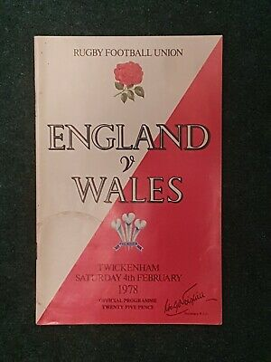 Rugby Programme England v Wales 1978
