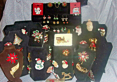 59 Pc Huge Lot Vintage To Modern Costume Estate Find Christmas Jewelry