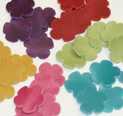 Leather Flower Shapes Craft Embellishments Wedding Decorations Choice of Colours