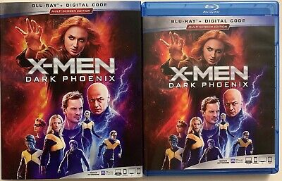 X-Men Dark Phoenix Blu Ray + Slipcover Sleeve Multi-Screen Edition Free Shipping
