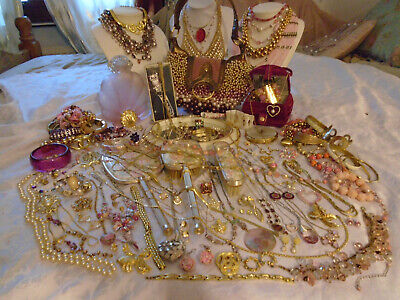 Joblot House Clearance Vintage Jewellery/Collectables/5Kgs/Names/Wow!
