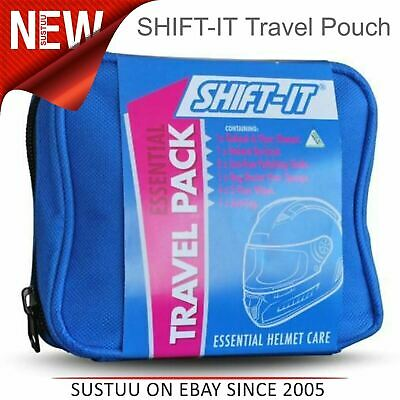 Shift It Motorcycle/ Motorbike Helmet Cleaning Care Essential Travel Pack/ Pouch
