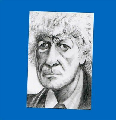 Dr Who Sketch Card - Jon Pertwee - 3rd Doctor WHO - ACEO - ATC - New - FREEPOST