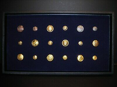 Antique Post Office Brass (18) Button Collection @ Vintage Postal USPS Mail Door