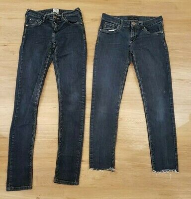 Two Pairs of River Island Skinny Jeans - Size 8