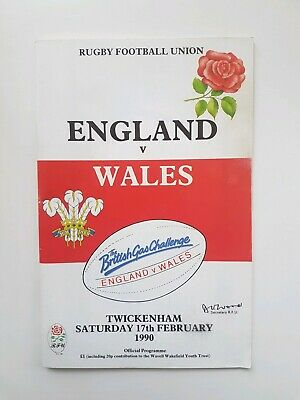 Rugby Programme England v Wales 1990