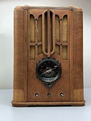 *Rare* ANTIQUE PROJECT ZENITH MODEL 5-S-29 TOMBSTONE VACUUM TUBE RADIO