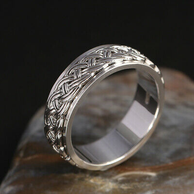 S925 pure silver ring retro jewelry tenglong fortune turn ring men