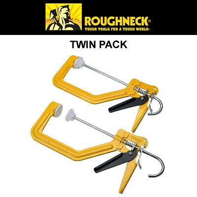 One handed Speed Clamp Twin Pack - Roughneck TurboClamp™ G Clamp