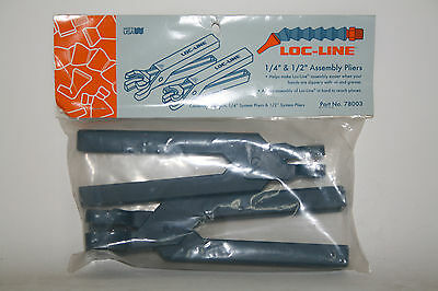 """Loc-Line 1/4"""" 1/2"""" and 3/4"""" Hose Assembly Pliers Set 78003/78004 NEW!!!"""