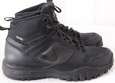 NIKE DUAL FUSION HILLS MID BOOT BLACK//SILVER NEW MULTIPLE SIZE 685621 001 GS
