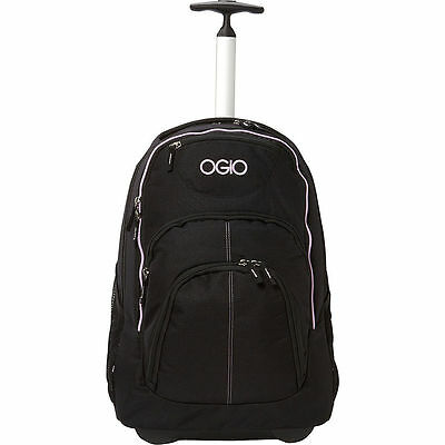 OGIO NEW SS111082.334 Phantom Black Orchid Rolling Travel Luggage Bag Carry-On