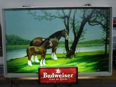 Budweiser clydesdale lighted sign