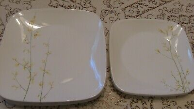 Corelle KOBE square Plate Lot.6 Dinner & 3 Lunch, very good condition         s9