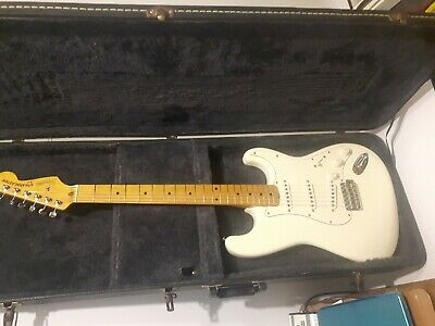 1982 Fender Squier Stratocaster JV21935 with case.