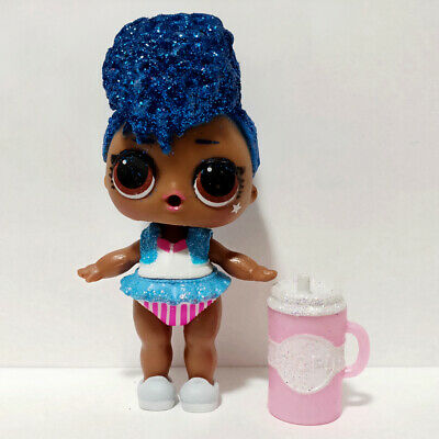 lol Doll series 3-003 INDEPENDENT QUEEN Big Sister Glitter Blue Hair Girls Gift