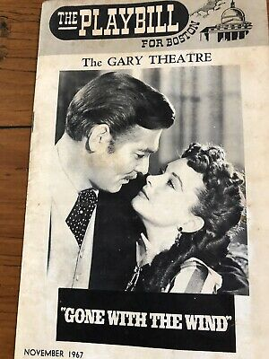 Gone With The Wind Playbill