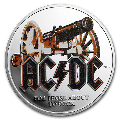 2019 Cook Islands 1/2 oz Silver AC/DC For Those About to Rock - SKU#198763