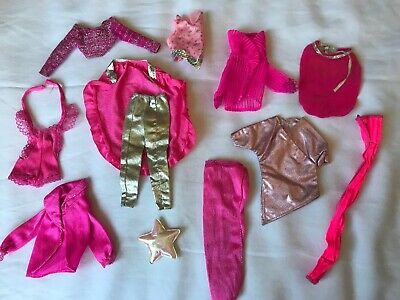 Mattel Barbie Doll Vintage 1990's HOT PINK Clothing Outfit Clothes Lot of 12