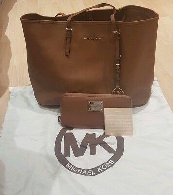 Gorgeous Genuine Michael Kors**Anabelle** Tote X Large Leather Bag, Tan RRP £540