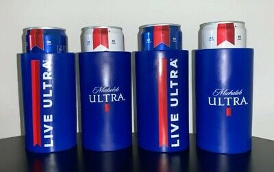4 Michelob Ultra Golf Cart Slim Can Coozie Koozie Coolie Beer LIVE ULTRA
