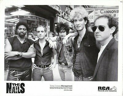 """THE NAILS New Wave Band The Ravers 1980s 8""""x10"""" RCA Publicity Press Photo"""