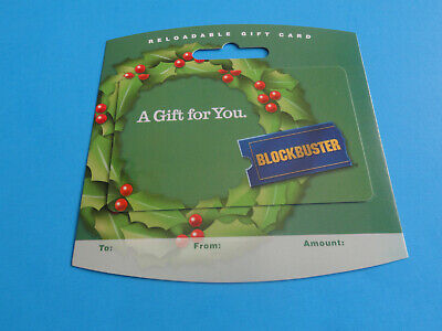 New 2006 Blockbuster Video Christmas Gift Card On/Backer (No Value On Card)