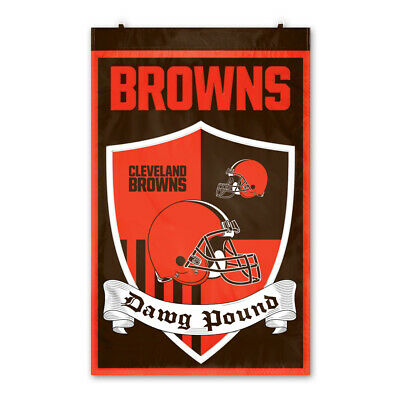 "NFL Cleveland Browns Shield Banner 36"" X 24"" New Release 2019  Indoor & Outdoor"
