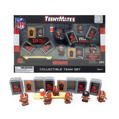 NFL TeenyMates Team Set Cleveland Browns 14 Piece Set 2019 New Release.