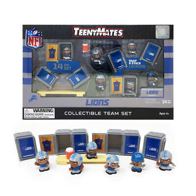 NFL TeenyMates Team Set Detroit Lions 14 Piece Set 2019 New Release.