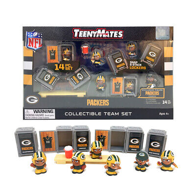 NFL TeenyMates Team Set Green Bay Packers 14 Piece Set 2019 New Release.