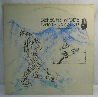 """Depeche Mode Everything Counts In Larger Amounts 1983 Vinyl 12"""" Single Record"""