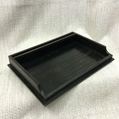 Antique Victorian Desk Tray Tidy Ebony Wood Wooden Dressing Vanity Table Stand