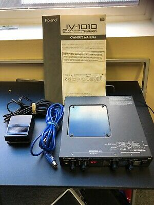 Roland JV-1010 64 Voice Synthesizer Module Comes With Cords & Original Manual.