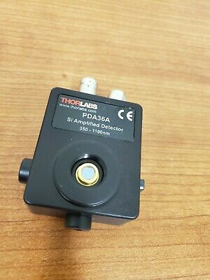 Thorlabs PDA36A Si Amplified Detector 350-1100nm   Switchable Gain Detector