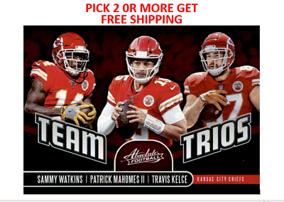 2019 Absolute Football Red Zone & Team Trios Singles Pick 2 or More Get FreeShip