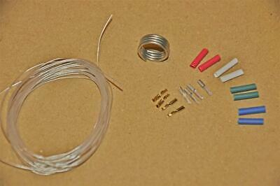 Tonearm rewire cable kit Pure Silver Litz wires 3 Metres 30AWG  1.2/1.3mm tags