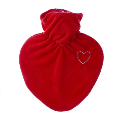 1 Litre Heart Shape Classic Comfort Rubberless Hot Water Bottle With Soft Covers