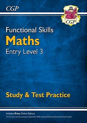 New Functional Skills Maths Level 3 Study & Test Practice For 2019