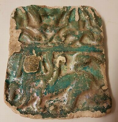 RARE ANTIQUE GENUINE 12th / 13th CENTURY KASHAN ISLAMIC ILKHANID POTTERY TILE