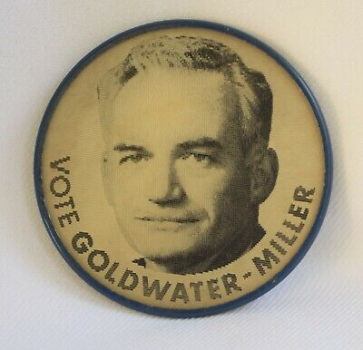 "VTG 1964 Barry Goldwater Miller Presidential Hologram Flasher 2.5"" Pin Button"