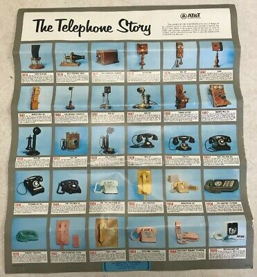 Vintage Original Pin Up Poster 1876 - 1969 The Telephone Story Poster At&t Rare