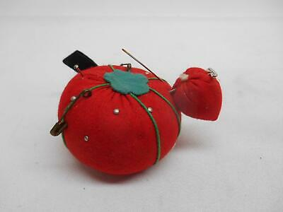 Old Vintage TOMATO STRAWBERRY SEWING PIN CUSHION Notion Made in Japan