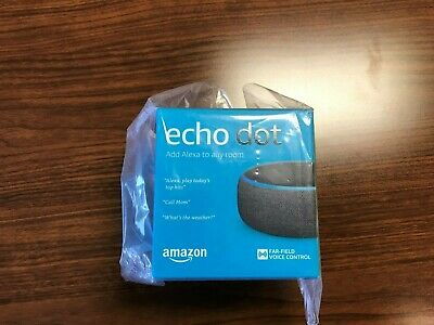 NEW Amazon Echo Dot (LATEST 3rd Gen) 2019 Alexa Smart Speaker Media - Charcoal