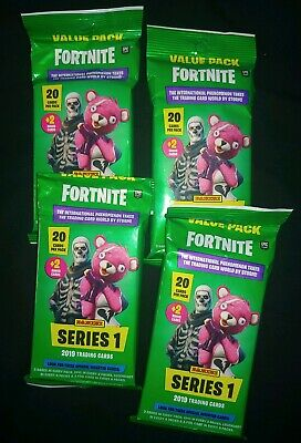 NEW 4 X 2019 Panini FORTNITE Trading Card 20 count Value/Fat Pack 80 Cards Total