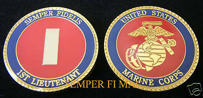 1St Lieutenant Us Marines Lt O-2 Challenge Coin Uss Promotion Gift Officer Mr