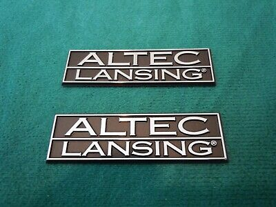 Vintage Altec Lansing Logo Nameplates For Models 4, 6, & 8
