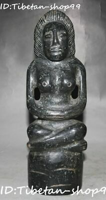 Rare Hongshan Culture Old Jade Carving Ancient People Woman Belle Beauty Statue