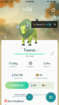 Pokemon Go ✨Shiny Regionals- Mr.Mime, Tauros & Farfetch'd Level 1- Reg.Trade