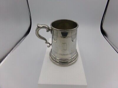 pewter mug 5in tall made by SHIRLEY WILLIAMSONBURG VIRGINIA